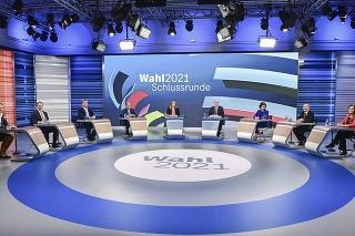 Posledná televízna debata pred voľbami v Nemecku.