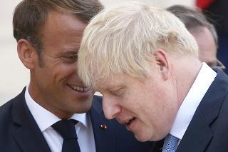 Emmanuel Macron a Boris Johnson