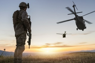 Military Mission at sunrise