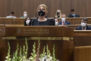 Čaputová prišla do parlamentu predniesť Správu o stave republiky.