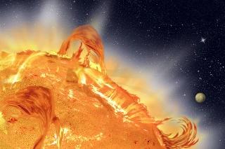 Slnečná erupcia