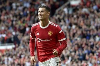 Cristiano Ronaldo v drese Manchestru United.