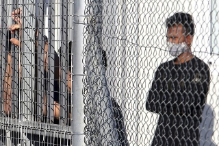 Stredisko pre migrantov na predmestí Nikózie.