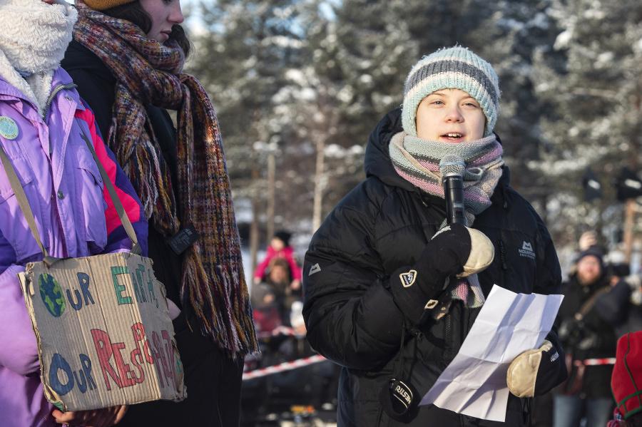 Švédska aktivistka Greta Thunbergová