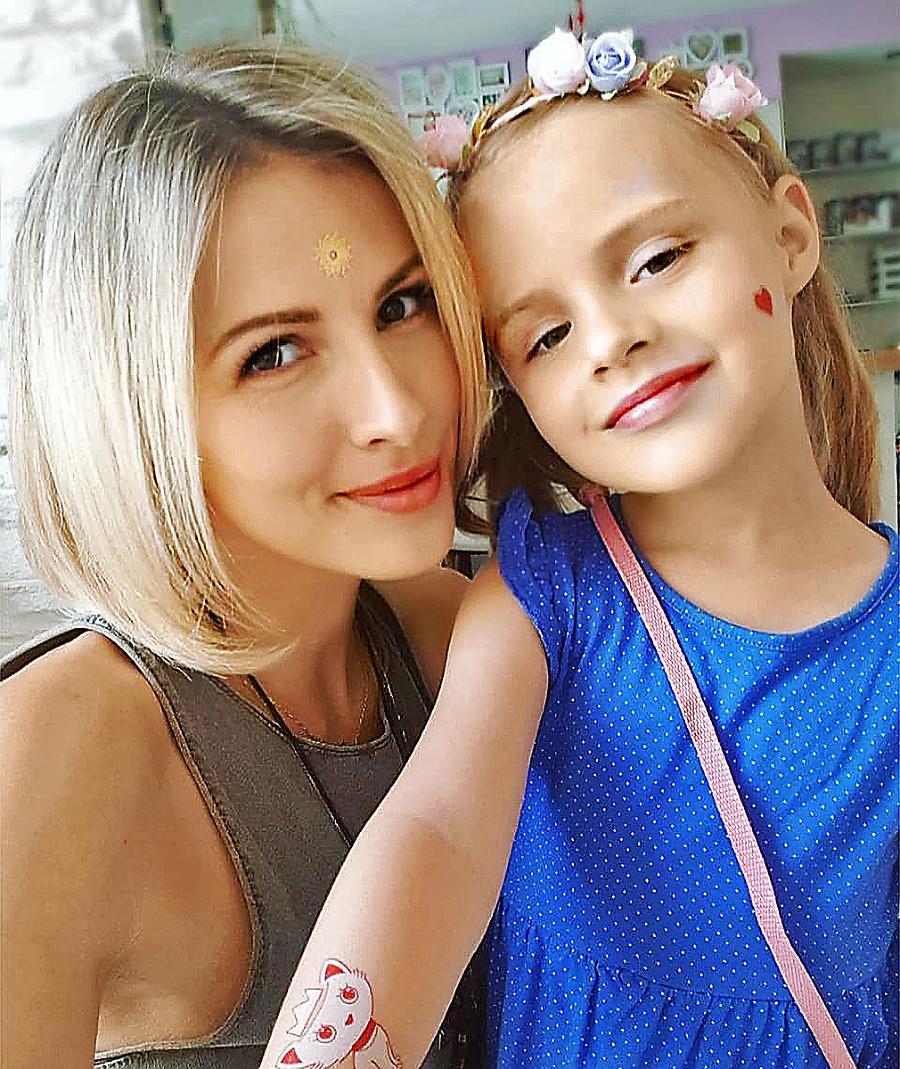 Kalisová s dcérou Miou.