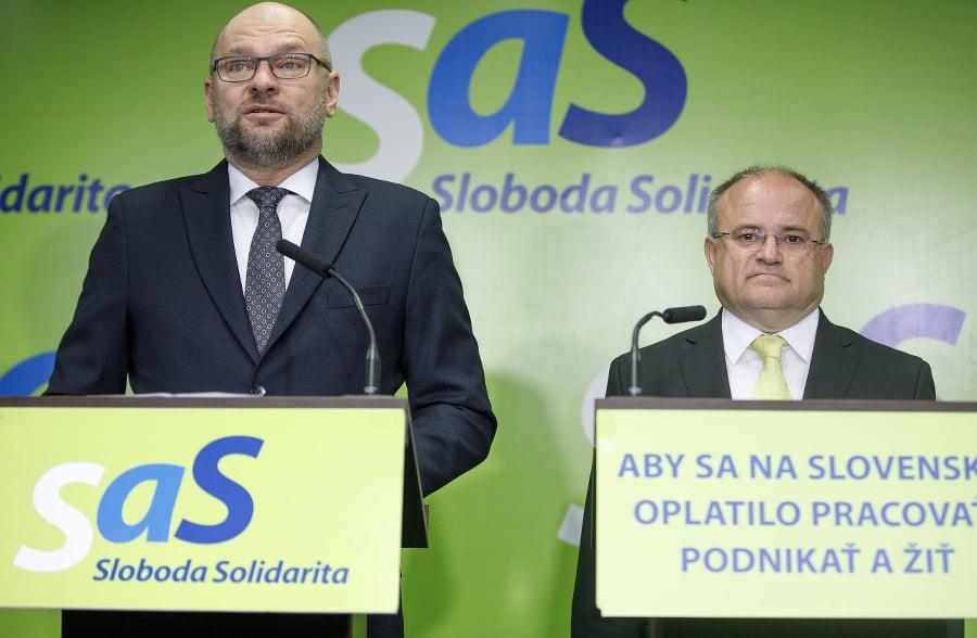 Zľava: Predseda strany SaS