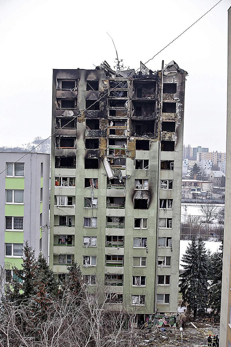 Mohutný výbuch a požiar