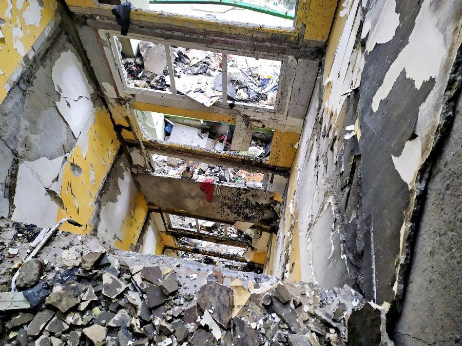 Prepadnuté schodisko