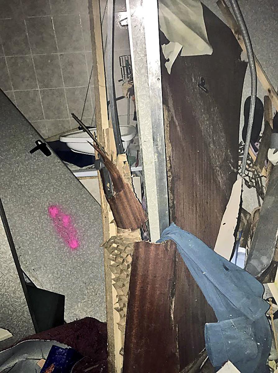 Zničená kúpeľňa