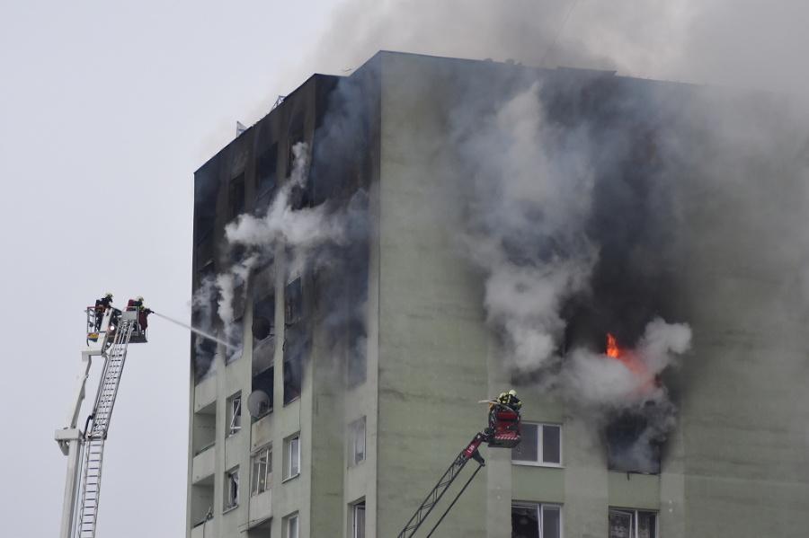 Výbuch bytovky v Prešove.