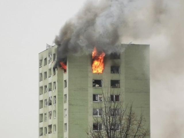 Bytovku v Prešove zachvátili