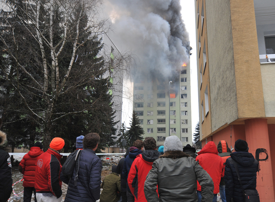 Výbuch a následný požiar