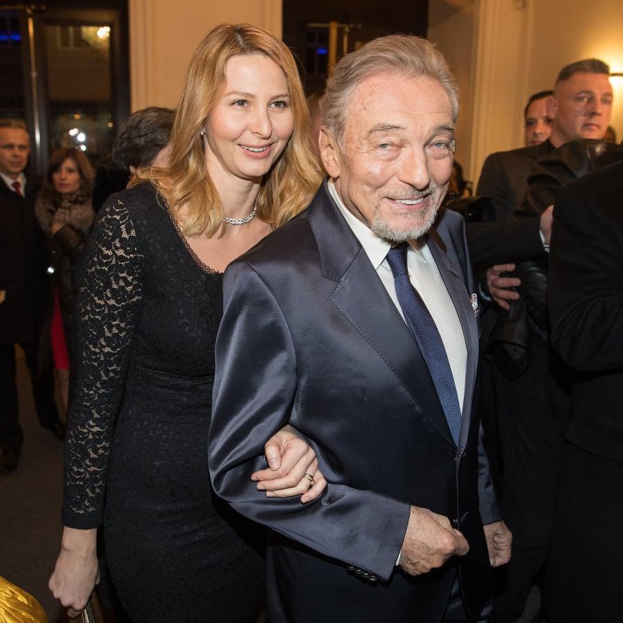Karel Gott s manželkou