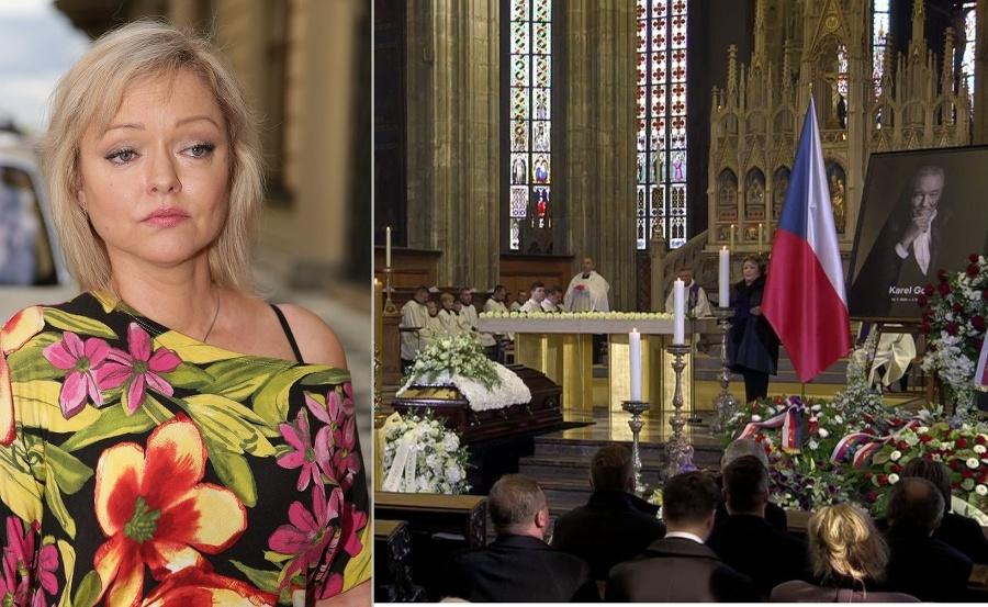 Vľavo herečka počas príhovoru.