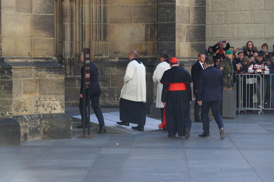 Príchod kardinála.