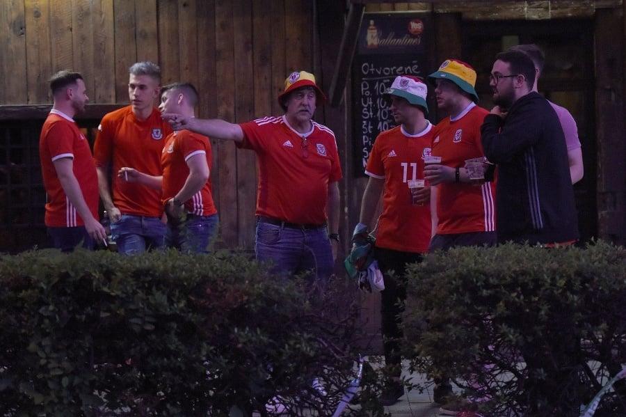 Fanúšikovia pred zápasom Slovensko