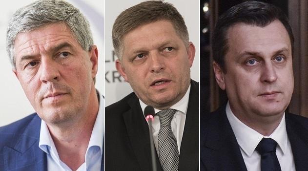 Lídri koaličných strán po