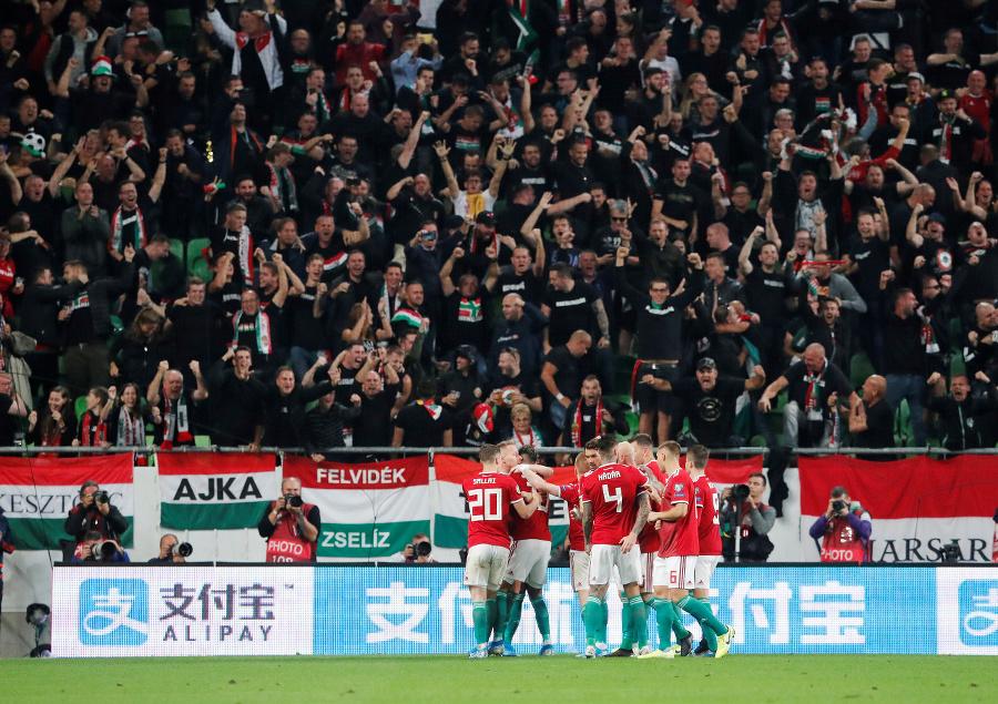Radosť hráčov Maďarska v
