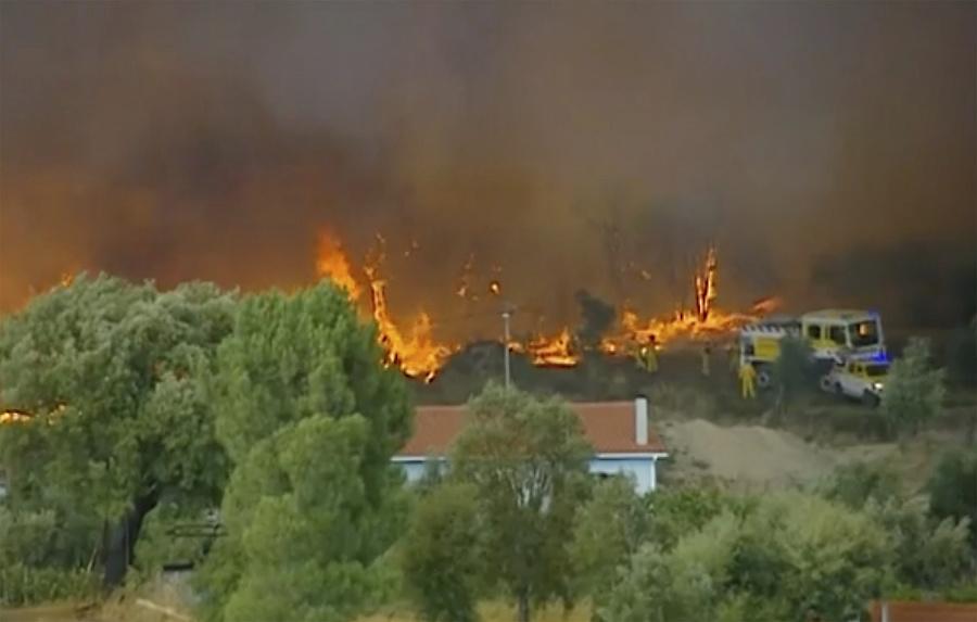 Požiar v Portugalsku.