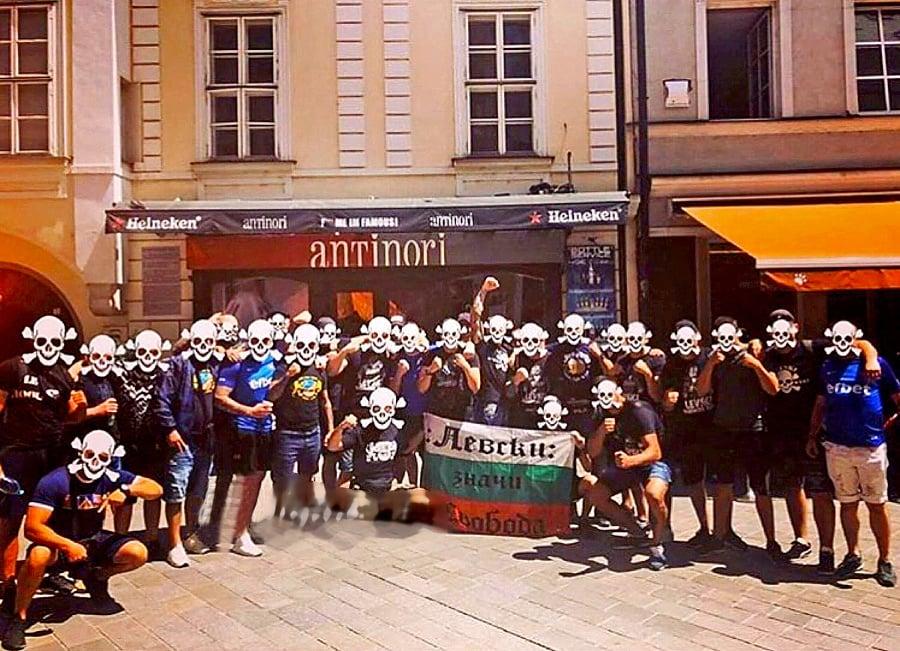 Skupina bulharských ultras Sofia