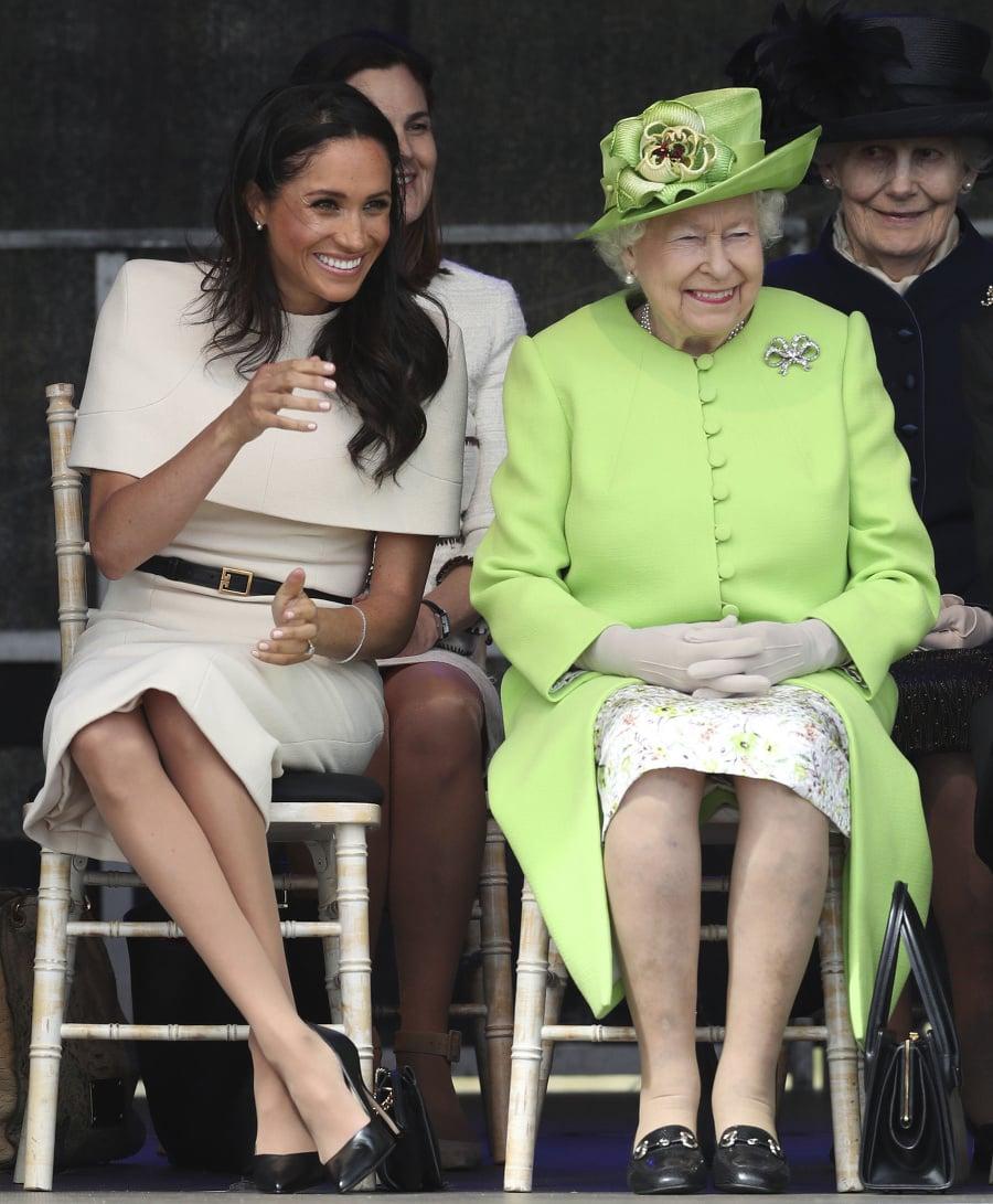 Meghan a kráľovná sa