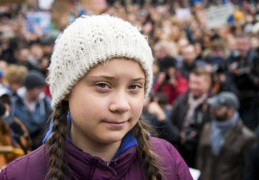 16-ročná Greta Thunberg je