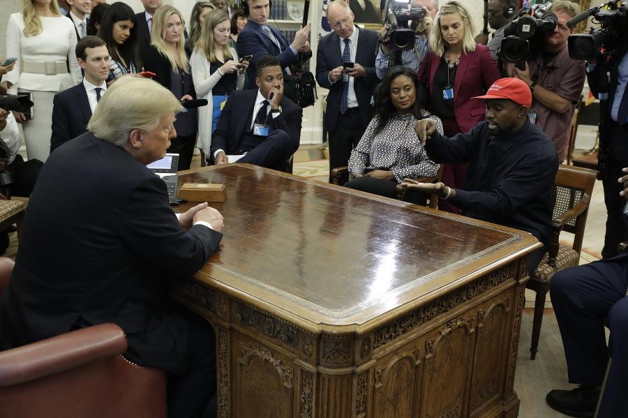 Raper Kanye West počas