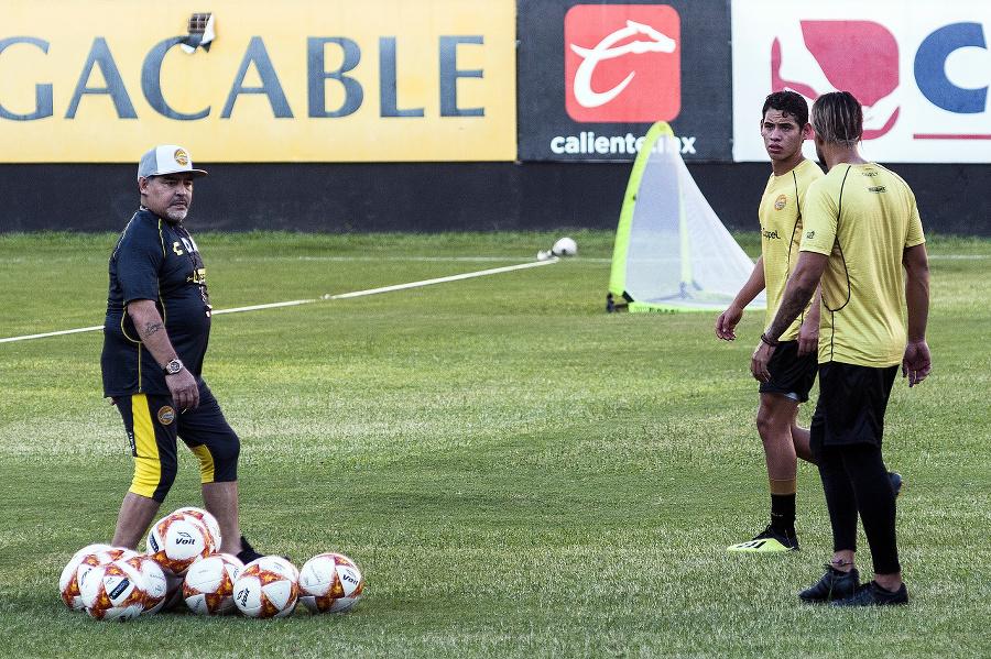 Maradona v novom pôsobisku.