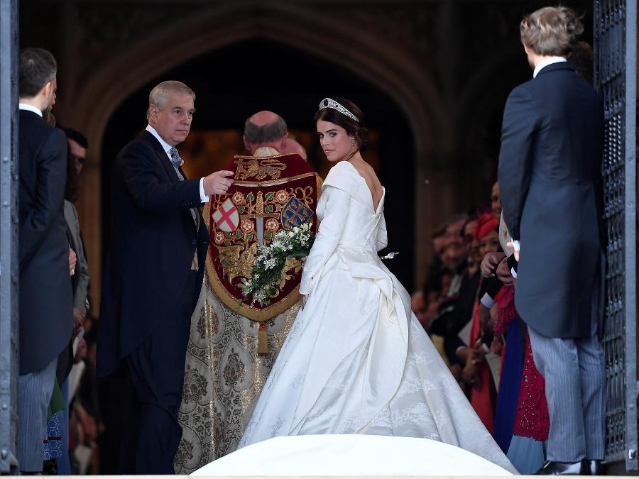 Princezná Eugenie pri príchode