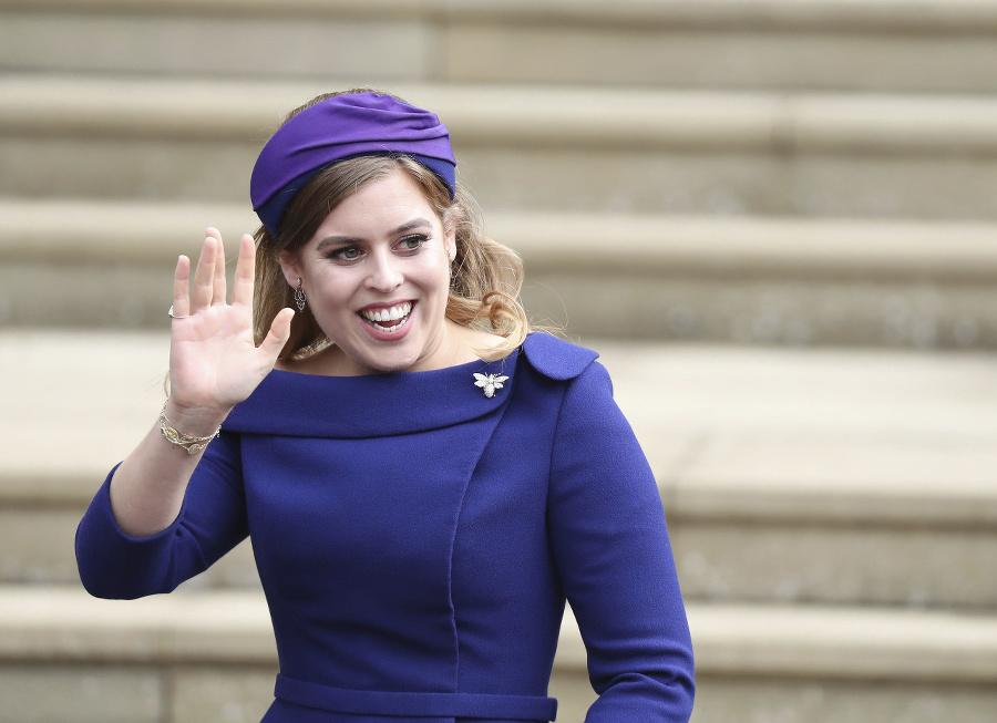 Princezná Beatrice pri príchode