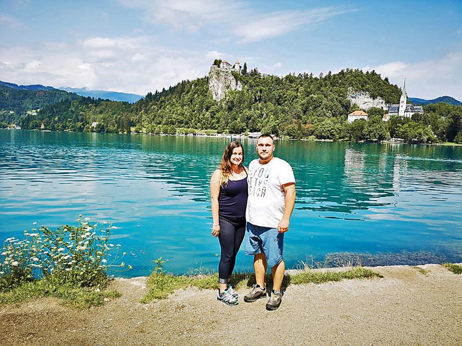 V strede jazera Bled