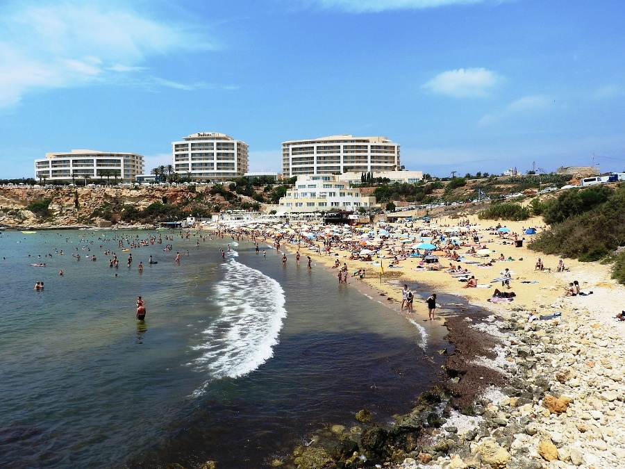 Golden Bay na Malte.