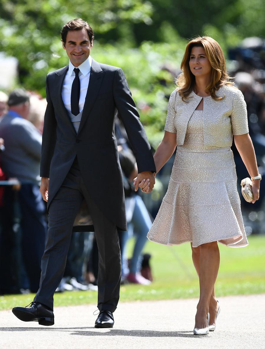 Roger Federer s manželkou