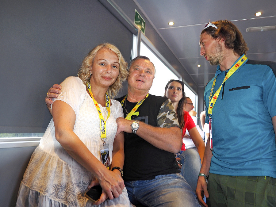 Ľubomír Sagan s priateľkou