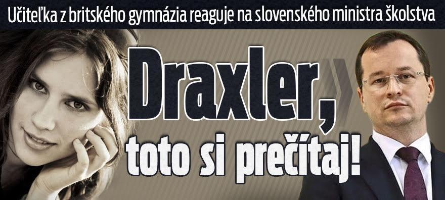 Draxler, toto si prečítaj.