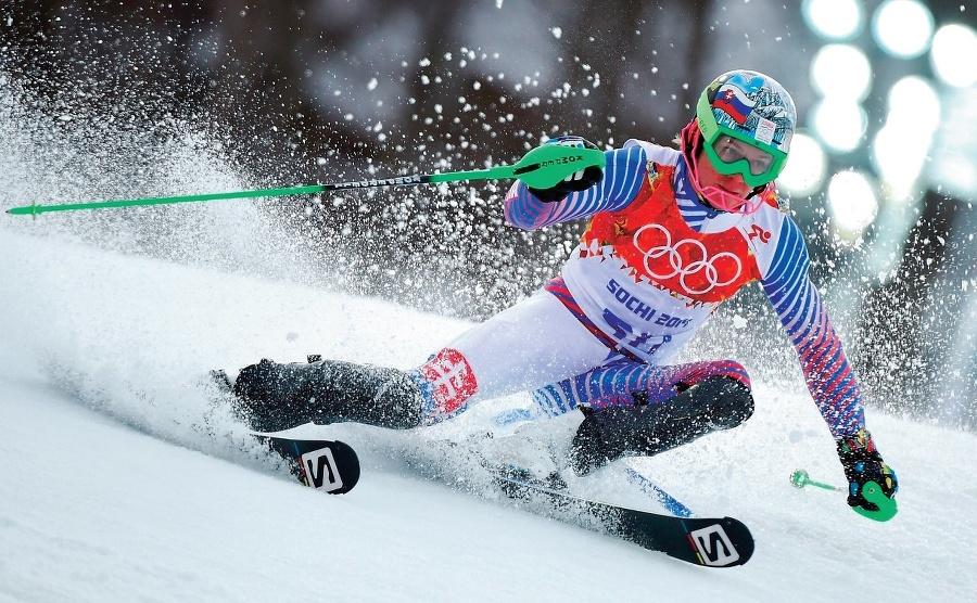 Adam Žampa na lyžiach