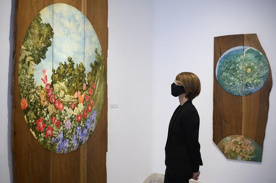Snímka z výstavy Maľby