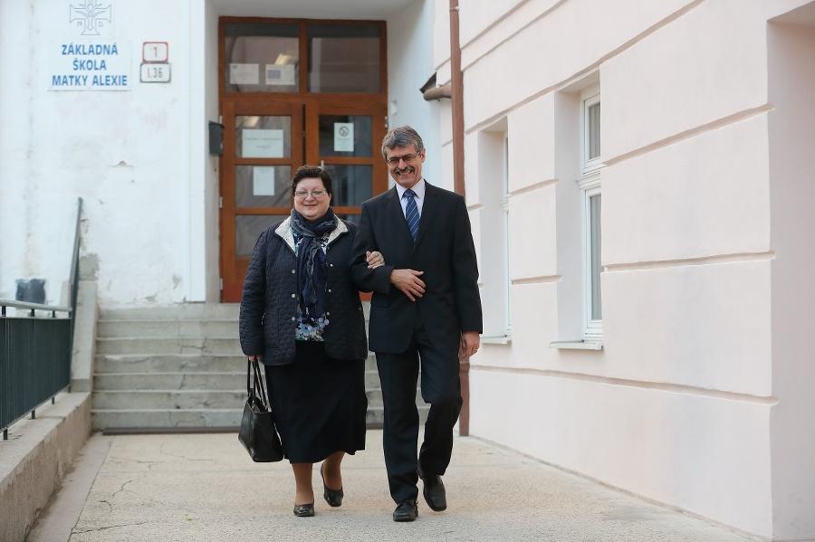 Milan Ftáčnik s manželkou.