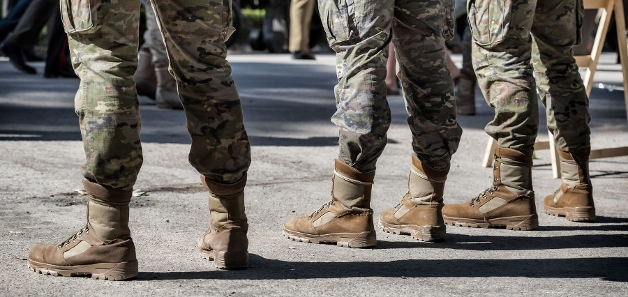 Closeup of Soldiers in