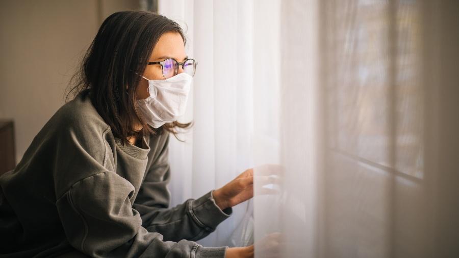 Woman in Isolation Quarantine