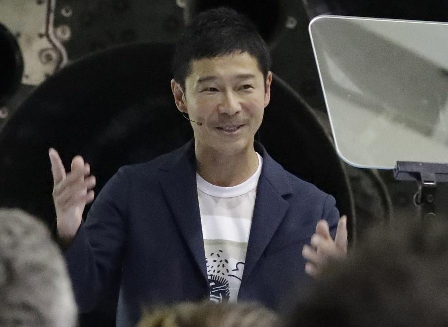 Japonský miliardár Jusaku Maezawa.