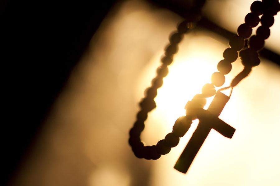 Religion, rosary, cross, motion,