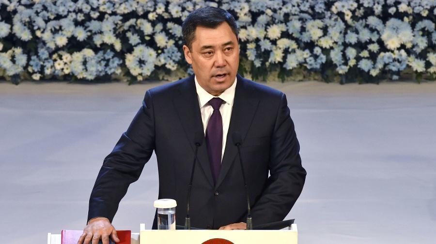 Kirgizský prezident Sadyr Žaparov.