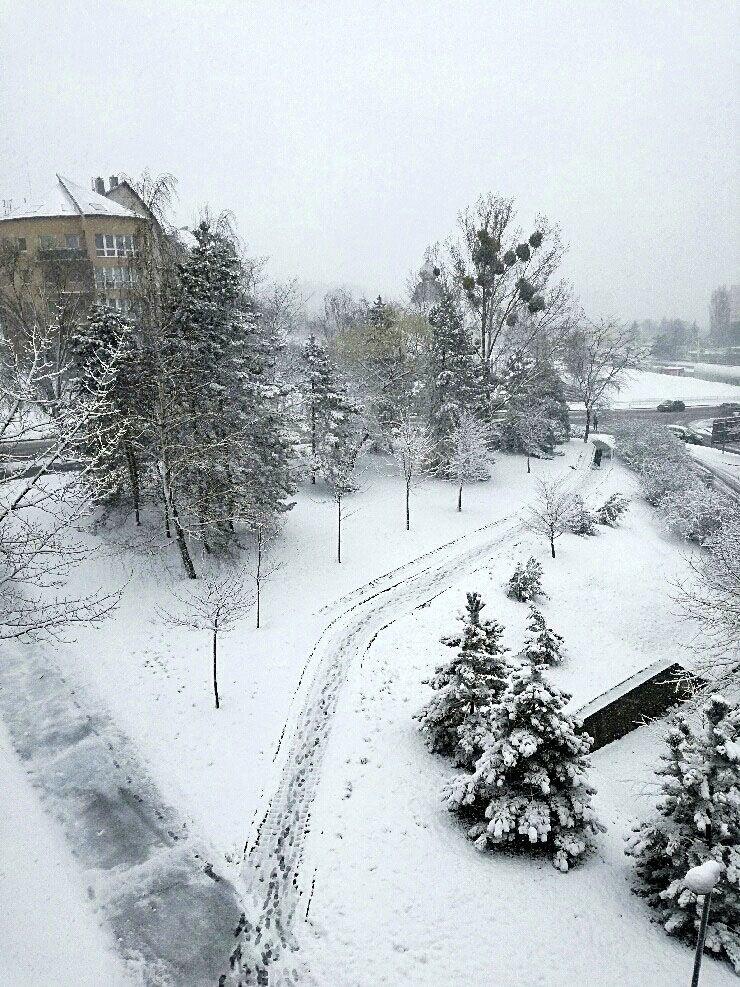 Výdatné sneženie v Košiciach