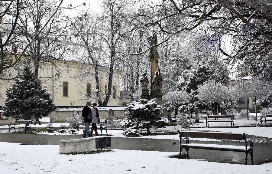 Aprílové sneženie v Trebišove.