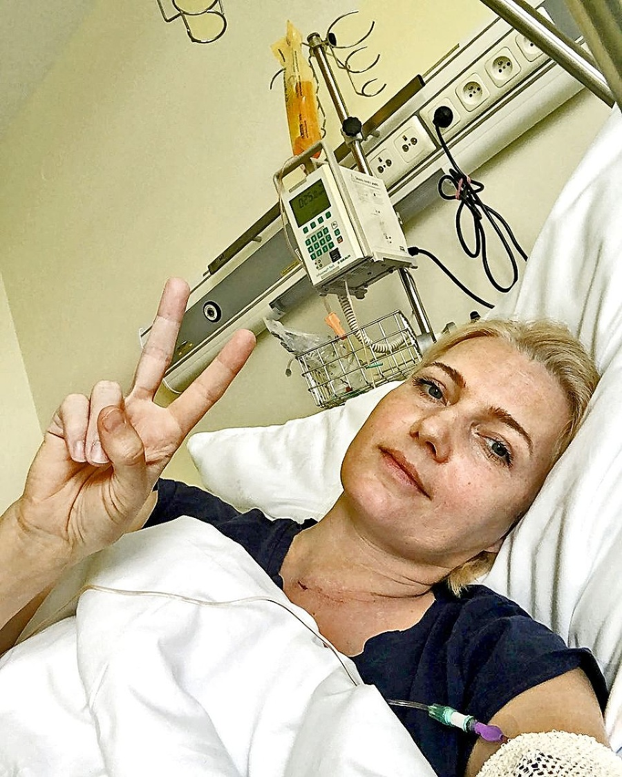 Touto fotkou z nemocnice