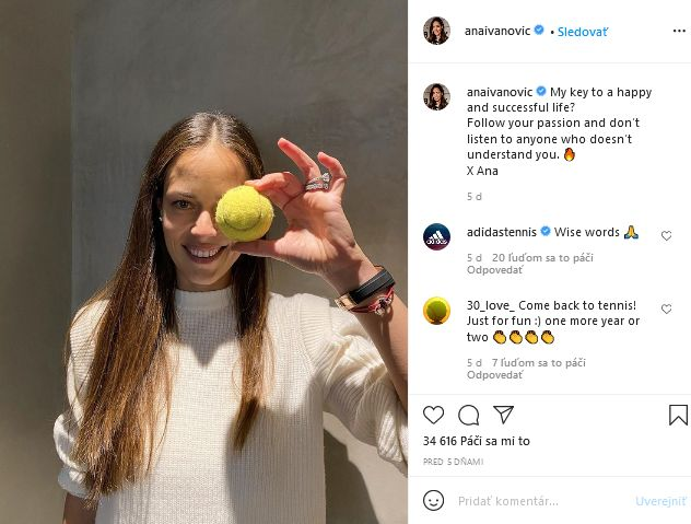 Ana Ivanovičová chystá návrat