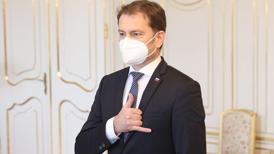 Premiér Igor Matovič v