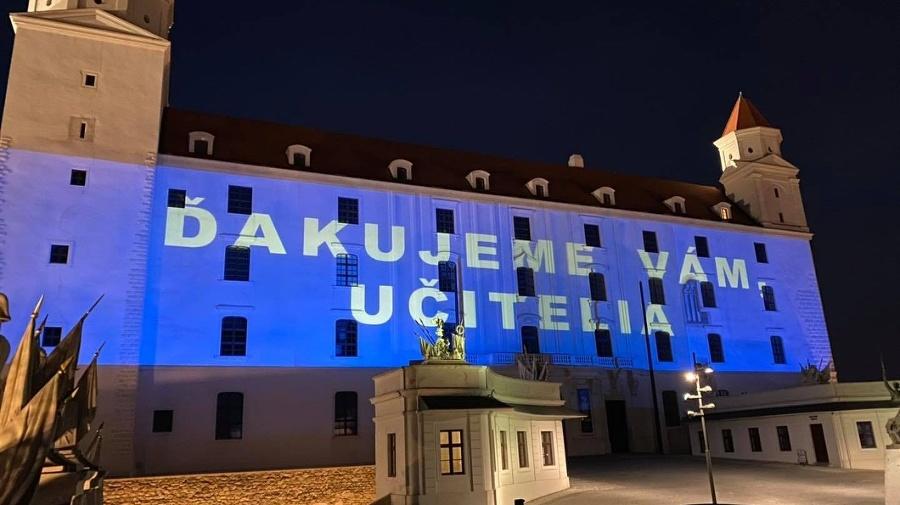 Poďakovanie na Bratislavskom hrade