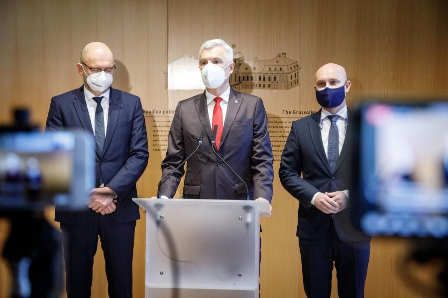 Zľava: Predseda strany Sloboda